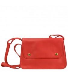 Sac Petit Vintage - Rouge - 100% Cuir