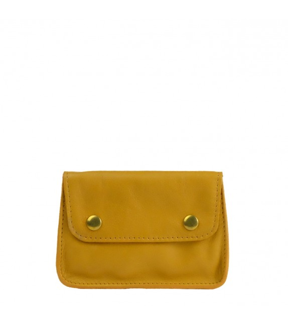Pochette Vintage - Ocre - 100% Cuir