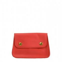 Pochette Vintage - Rouge - 100% Cuir