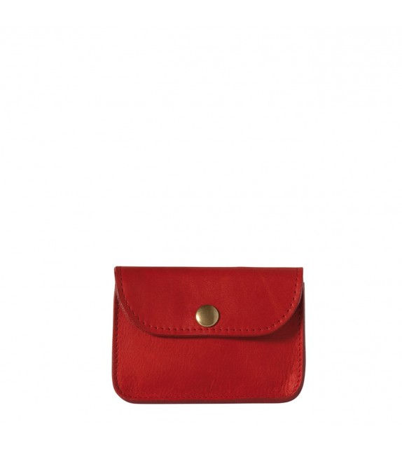 Porte-monnaie Vintage - Rouge - 100% Cuir
