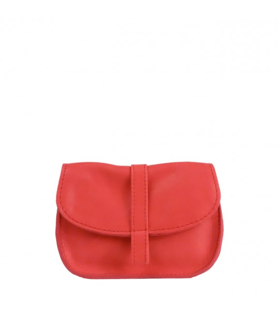 Pochette EMA - Rouge - 100% Cuir