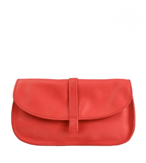 Portefeuille EMA - Rouge - 100% Cuir