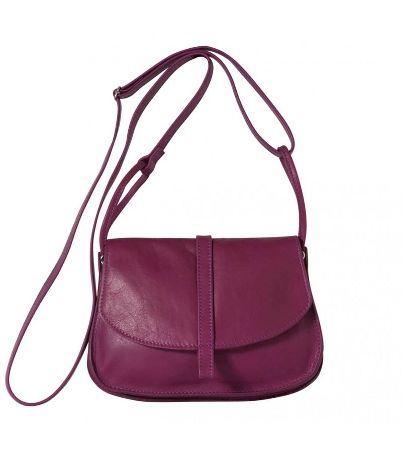 1f8b388f2f Sac Petit EMA - Cuir - Fuchsia - Femme - Petit sac
