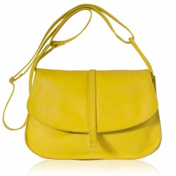Sac Grand EMA - Jaune - 100% Cuir