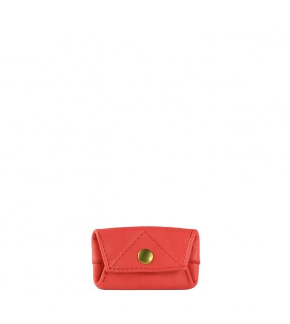Porte monnaie Aline - Rouge - 100% cuir
