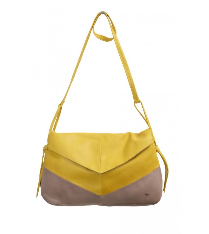 sac grand paloma cuir jaune femme sac moyen. Black Bedroom Furniture Sets. Home Design Ideas