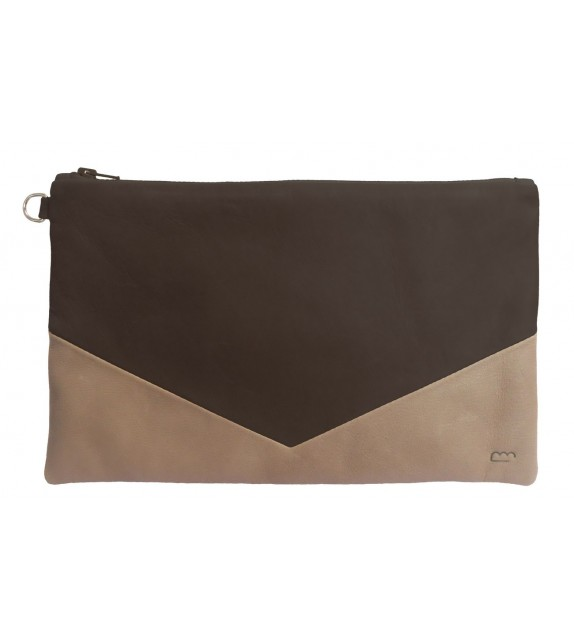 Pochette Paloma XL Anthracite - Cuir