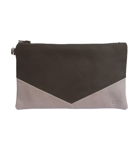 Pochette Paloma Anthracite - Cuir