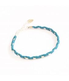 Bracelet Simple - Canard/Argent - Cuir
