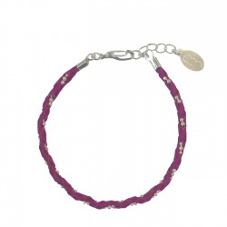 Bracelet Simple Fuchsia/Argent