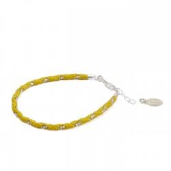 Bracelet Simple Jaune/Argent