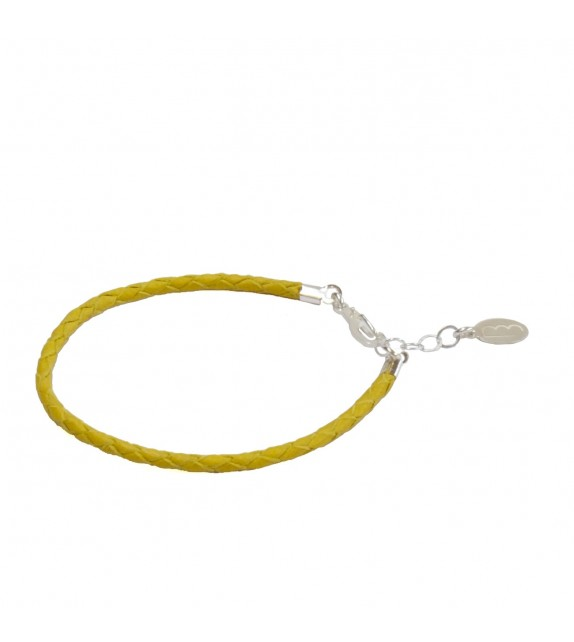 Bracelet Simple - Jaune - Cuir
