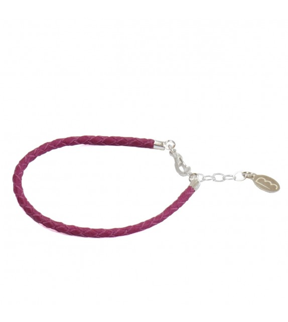 Bracelet Simple - Fuchsia - Cuir