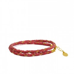 Bracelet Double Rouge Brillant/Or