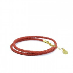 Bracelet Double Rouge/Or