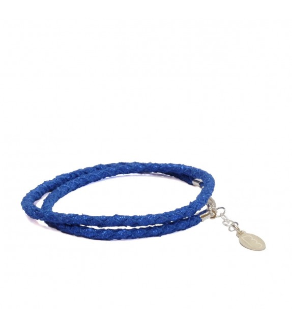 Bracelet Double Bleu Brillant
