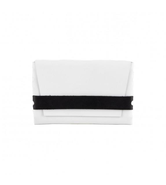 Pochette M - Sans couture - Blanc & Noir- 100% cuir