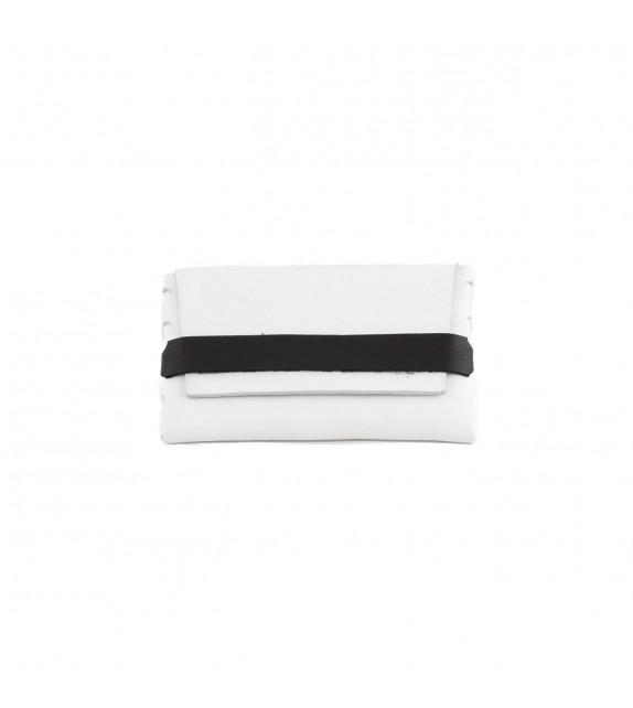 Pochette S - Sans couture - Blanc & Noir - 100% cuir