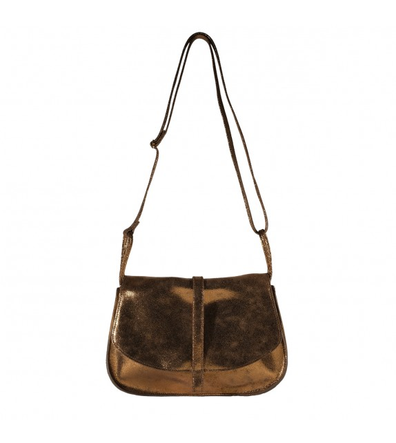 Sac Grand EMA - Bronze irisé - 100% Cuir