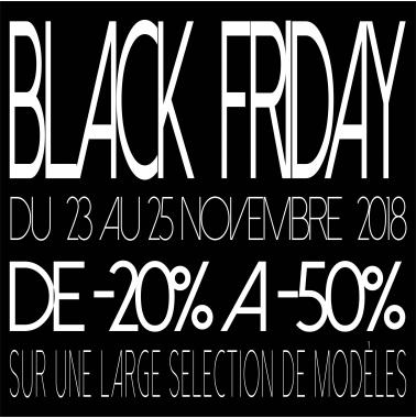 Black Friday du 23 au 25 novembre 2018